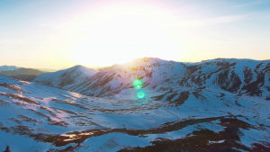 A stunning sunrise over the snow capped Cascades from 10,000 feet. Doors open on this Helicopter Bend & Central Oregon!