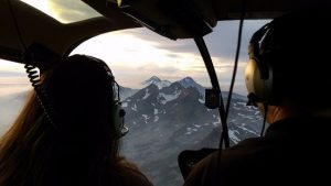 Incredible mountain peak view from out Helicopter, ATV & Adventure tours.