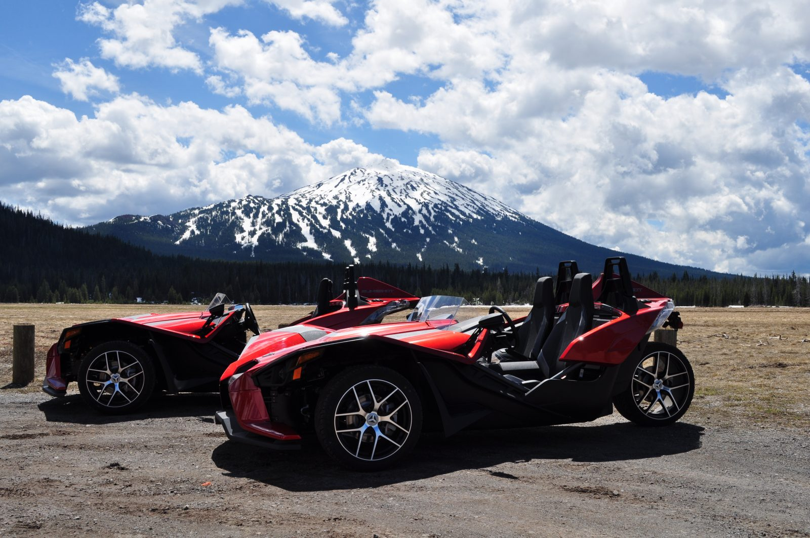 Polaris Slingshot at Mt Bachelor